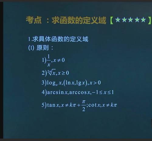 高数@库课考点精讲 高等数学视频教程下载
